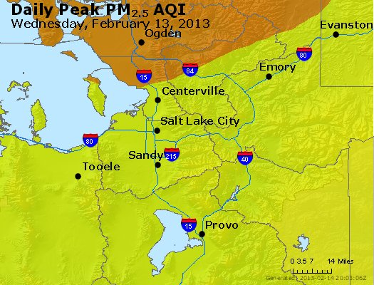 Peak Particles PM<sub>2.5</sub> (24-hour) - http://files.airnowtech.org/airnow/2013/20130213/peak_pm25_saltlakecity_ut.jpg