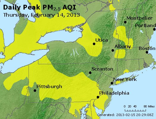 Peak Particles PM<sub>2.5</sub> (24-hour) - http://files.airnowtech.org/airnow/2013/20130214/peak_pm25_ny_pa_nj.jpg