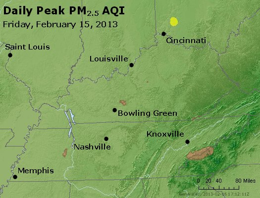 Peak Particles PM<sub>2.5</sub> (24-hour) - http://files.airnowtech.org/airnow/2013/20130215/peak_pm25_ky_tn.jpg