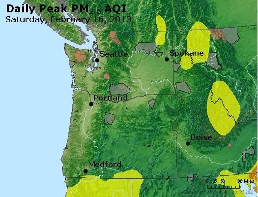 Peak Particles PM<sub>2.5</sub> (24-hour) - http://files.airnowtech.org/airnow/2013/20130216/peak_pm25_wa_or.jpg