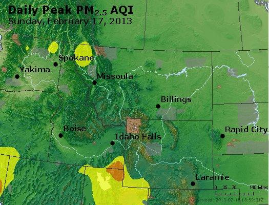 Peak Particles PM<sub>2.5</sub> (24-hour) - http://files.airnowtech.org/airnow/2013/20130217/peak_pm25_mt_id_wy.jpg
