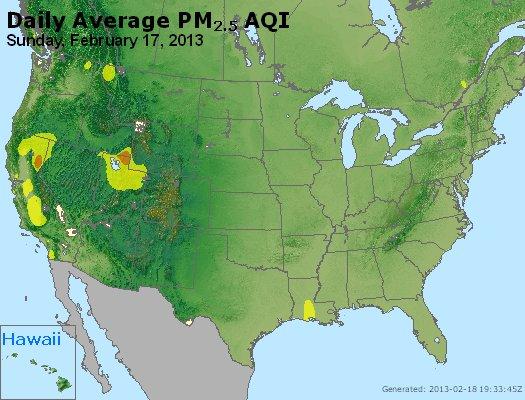 Peak Particles PM<sub>2.5</sub> (24-hour) - http://files.airnowtech.org/airnow/2013/20130217/peak_pm25_usa.jpg