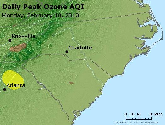 Peak Ozone (8-hour) - http://files.airnowtech.org/airnow/2013/20130218/peak_o3_nc_sc.jpg