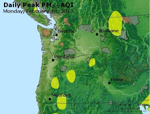 Peak Particles PM<sub>2.5</sub> (24-hour) - http://files.airnowtech.org/airnow/2013/20130218/peak_pm25_wa_or.jpg