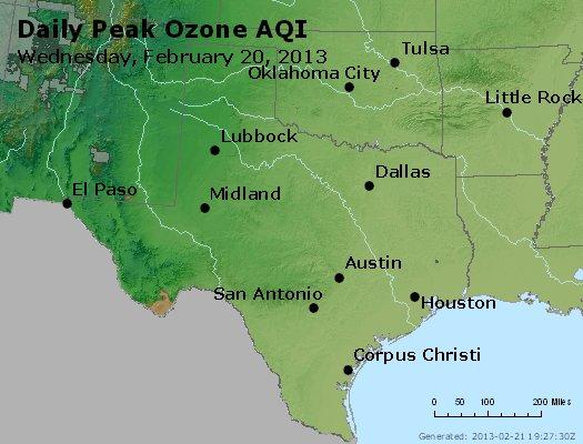 Peak Ozone (8-hour) - http://files.airnowtech.org/airnow/2013/20130220/peak_o3_tx_ok.jpg