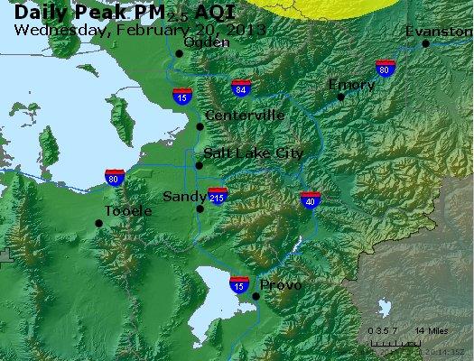 Peak Particles PM<sub>2.5</sub> (24-hour) - http://files.airnowtech.org/airnow/2013/20130220/peak_pm25_saltlakecity_ut.jpg