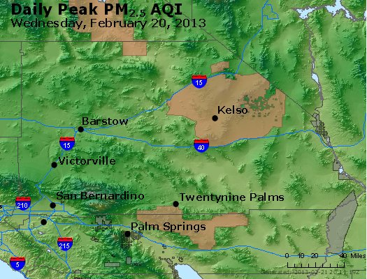 Peak Particles PM<sub>2.5</sub> (24-hour) - http://files.airnowtech.org/airnow/2013/20130220/peak_pm25_sanbernardino_ca.jpg