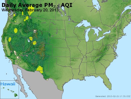 Peak Particles PM<sub>2.5</sub> (24-hour) - http://files.airnowtech.org/airnow/2013/20130220/peak_pm25_usa.jpg