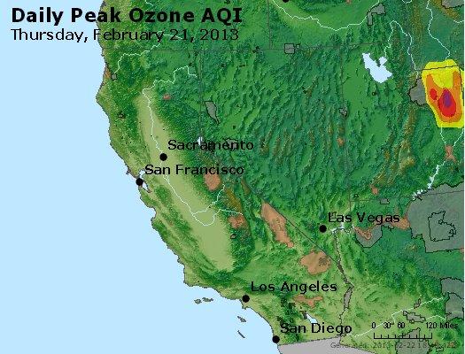 Peak Ozone (8-hour) - http://files.airnowtech.org/airnow/2013/20130221/peak_o3_ca_nv.jpg