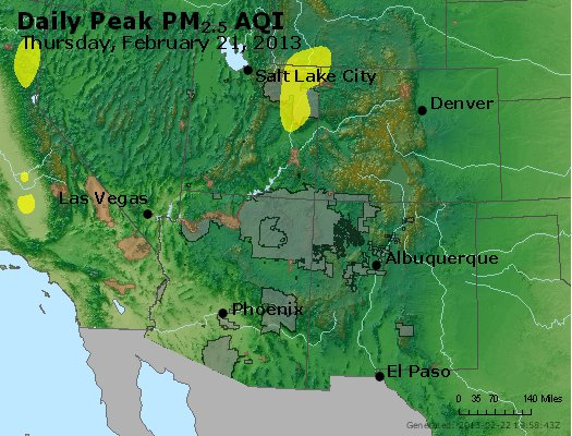 Peak Particles PM<sub>2.5</sub> (24-hour) - http://files.airnowtech.org/airnow/2013/20130221/peak_pm25_co_ut_az_nm.jpg