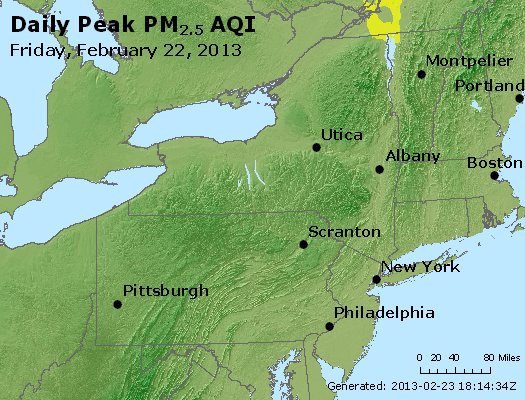 Peak Particles PM<sub>2.5</sub> (24-hour) - http://files.airnowtech.org/airnow/2013/20130222/peak_pm25_ny_pa_nj.jpg