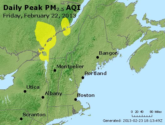 Peak Particles PM<sub>2.5</sub> (24-hour) - http://files.airnowtech.org/airnow/2013/20130222/peak_pm25_vt_nh_ma_ct_ri_me.jpg