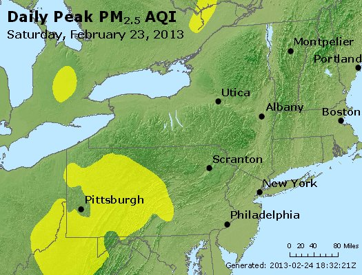 Peak Particles PM<sub>2.5</sub> (24-hour) - http://files.airnowtech.org/airnow/2013/20130223/peak_pm25_ny_pa_nj.jpg