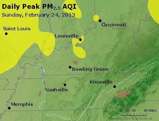 Peak Particles PM<sub>2.5</sub> (24-hour) - http://files.airnowtech.org/airnow/2013/20130224/peak_pm25_ky_tn.jpg
