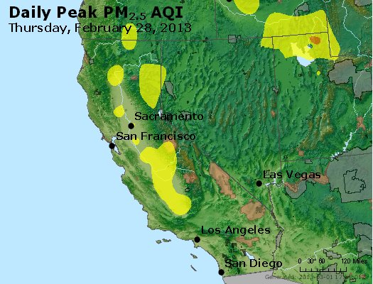 Peak Particles PM<sub>2.5</sub> (24-hour) - http://files.airnowtech.org/airnow/2013/20130228/peak_pm25_ca_nv.jpg