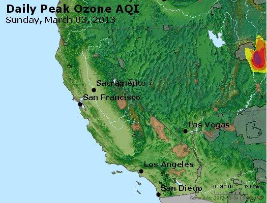 Peak Ozone (8-hour) - http://files.airnowtech.org/airnow/2013/20130303/peak_o3_ca_nv.jpg
