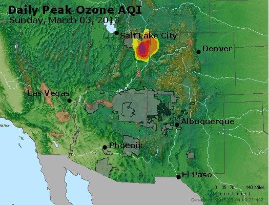 Peak Ozone (8-hour) - http://files.airnowtech.org/airnow/2013/20130303/peak_o3_co_ut_az_nm.jpg