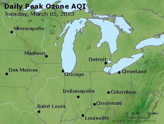 Peak Ozone (8-hour) - http://files.airnowtech.org/airnow/2013/20130305/peak_o3_mi_in_oh.jpg