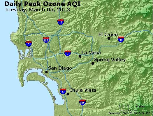Peak Ozone (8-hour) - http://files.airnowtech.org/airnow/2013/20130305/peak_o3_sandiego_ca.jpg