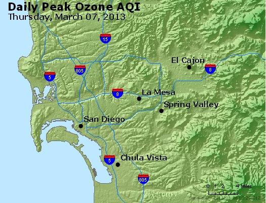 Peak Ozone (8-hour) - http://files.airnowtech.org/airnow/2013/20130307/peak_o3_sandiego_ca.jpg