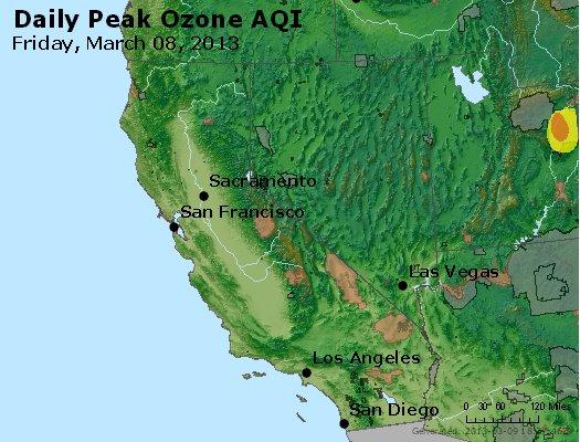 Peak Ozone (8-hour) - http://files.airnowtech.org/airnow/2013/20130308/peak_o3_ca_nv.jpg