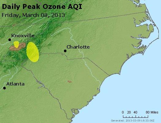 Peak Ozone (8-hour) - http://files.airnowtech.org/airnow/2013/20130308/peak_o3_nc_sc.jpg