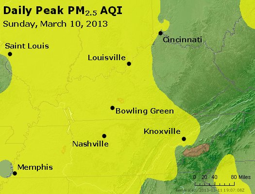 Peak Particles PM<sub>2.5</sub> (24-hour) - http://files.airnowtech.org/airnow/2013/20130310/peak_pm25_ky_tn.jpg