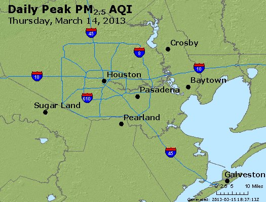 Peak Particles PM<sub>2.5</sub> (24-hour) - http://files.airnowtech.org/airnow/2013/20130314/peak_pm25_houston_tx.jpg