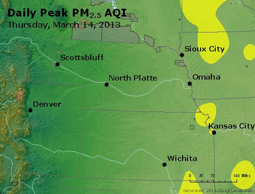 Peak Particles PM<sub>2.5</sub> (24-hour) - http://files.airnowtech.org/airnow/2013/20130314/peak_pm25_ne_ks.jpg