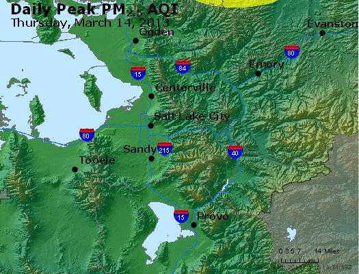 Peak Particles PM<sub>2.5</sub> (24-hour) - http://files.airnowtech.org/airnow/2013/20130314/peak_pm25_saltlakecity_ut.jpg