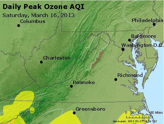 Peak Ozone (8-hour) - http://files.airnowtech.org/airnow/2013/20130316/peak_o3_va_wv_md_de_dc.jpg
