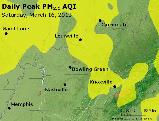 Peak Particles PM<sub>2.5</sub> (24-hour) - http://files.airnowtech.org/airnow/2013/20130316/peak_pm25_ky_tn.jpg