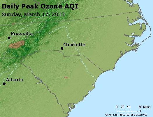 Peak Ozone (8-hour) - http://files.airnowtech.org/airnow/2013/20130317/peak_o3_nc_sc.jpg