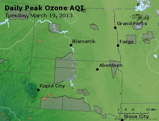 Peak Ozone (8-hour) - http://files.airnowtech.org/airnow/2013/20130319/peak_o3_nd_sd.jpg