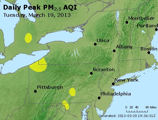 Peak Particles PM<sub>2.5</sub> (24-hour) - http://files.airnowtech.org/airnow/2013/20130319/peak_pm25_ny_pa_nj.jpg