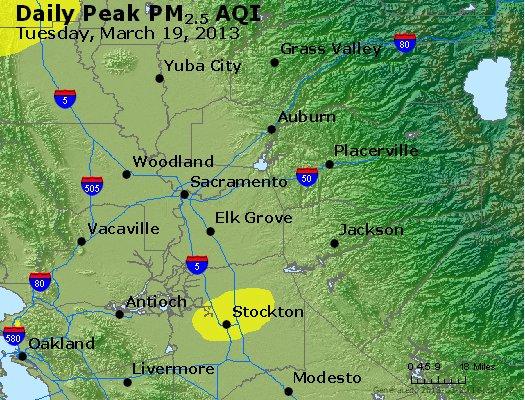 Peak Particles PM<sub>2.5</sub> (24-hour) - http://files.airnowtech.org/airnow/2013/20130319/peak_pm25_sacramento_ca.jpg