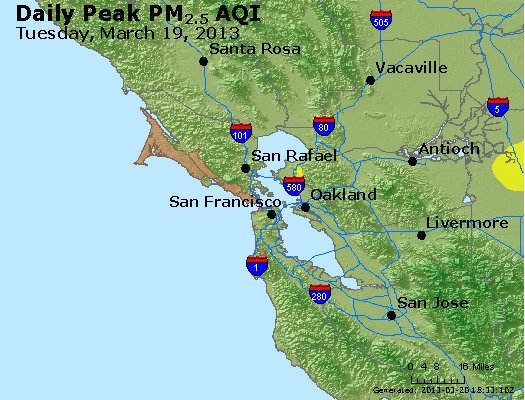 Peak Particles PM<sub>2.5</sub> (24-hour) - http://files.airnowtech.org/airnow/2013/20130319/peak_pm25_sanfrancisco_ca.jpg