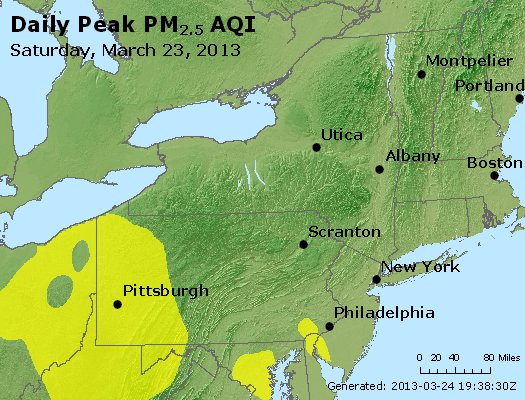 Peak Particles PM<sub>2.5</sub> (24-hour) - http://files.airnowtech.org/airnow/2013/20130323/peak_pm25_ny_pa_nj.jpg