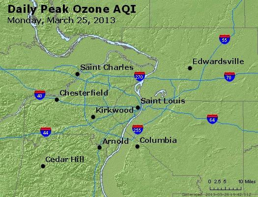 Peak Ozone (8-hour) - http://files.airnowtech.org/airnow/2013/20130325/peak_o3_stlouis_mo.jpg