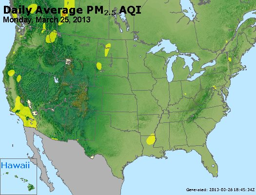 Peak Particles PM<sub>2.5</sub> (24-hour) - http://files.airnowtech.org/airnow/2013/20130325/peak_pm25_usa.jpg