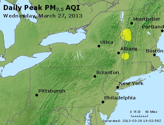 Peak Particles PM<sub>2.5</sub> (24-hour) - http://files.airnowtech.org/airnow/2013/20130327/peak_pm25_ny_pa_nj.jpg