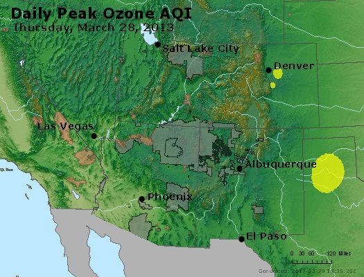 Peak Ozone (8-hour) - http://files.airnowtech.org/airnow/2013/20130328/peak_o3_co_ut_az_nm.jpg