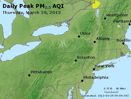 Peak Particles PM<sub>2.5</sub> (24-hour) - http://files.airnowtech.org/airnow/2013/20130328/peak_pm25_ny_pa_nj.jpg