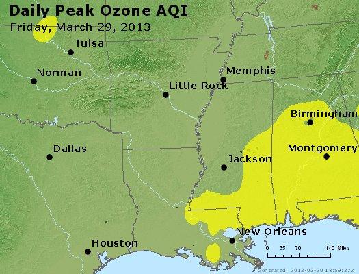 Peak Ozone (8-hour) - http://files.airnowtech.org/airnow/2013/20130329/peak_o3_ar_la_ms.jpg