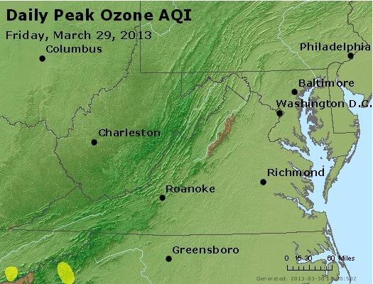 Peak Ozone (8-hour) - http://files.airnowtech.org/airnow/2013/20130329/peak_o3_va_wv_md_de_dc.jpg