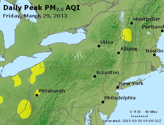 Peak Particles PM<sub>2.5</sub> (24-hour) - http://files.airnowtech.org/airnow/2013/20130329/peak_pm25_ny_pa_nj.jpg