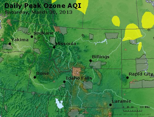 Peak Ozone (8-hour) - http://files.airnowtech.org/airnow/2013/20130330/peak_o3_mt_id_wy.jpg