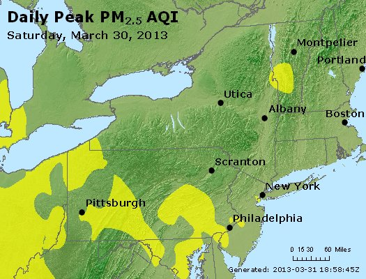 Peak Particles PM<sub>2.5</sub> (24-hour) - http://files.airnowtech.org/airnow/2013/20130330/peak_pm25_ny_pa_nj.jpg