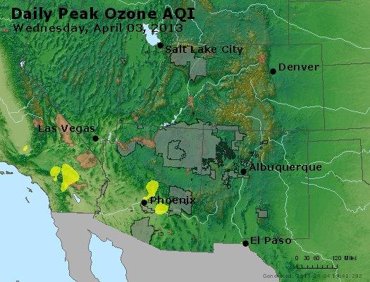 Peak Ozone (8-hour) - http://files.airnowtech.org/airnow/2013/20130403/peak_o3_co_ut_az_nm.jpg