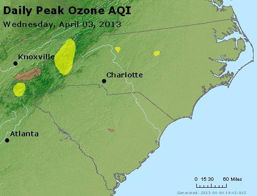 Peak Ozone (8-hour) - http://files.airnowtech.org/airnow/2013/20130403/peak_o3_nc_sc.jpg